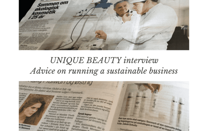 Read more about the article UNIQUE BEAUTY interview – How to become more sustainable